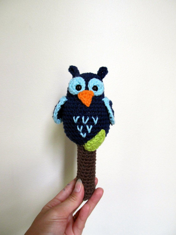 Crochet Owl Rattle toy. $18.00, via Etsy. | owls