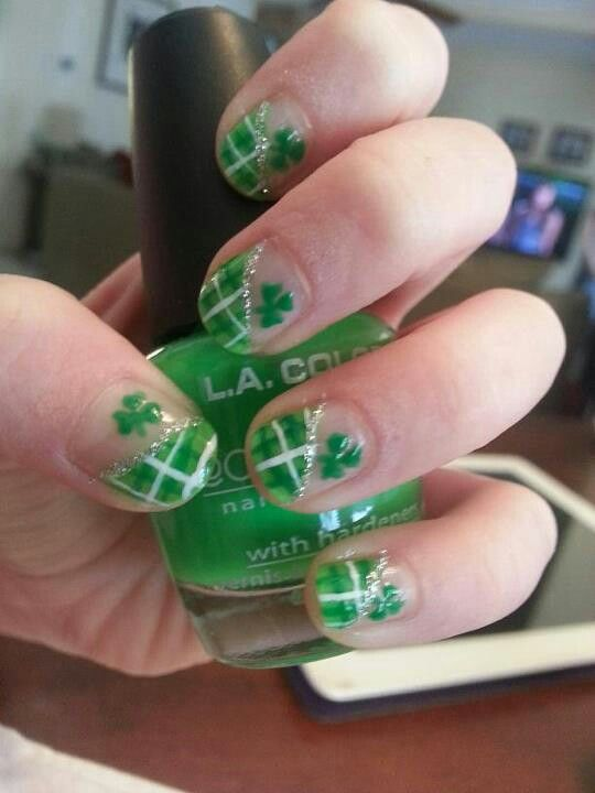 St. Patrick\'s Day nails! | Nail art I\'ve done | Pinterest