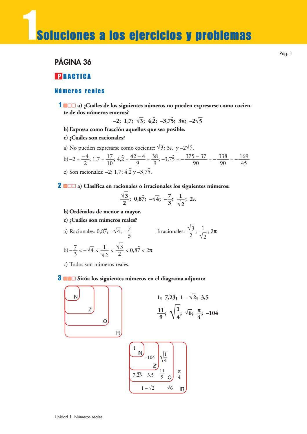Problemas Solucionados Libro Matematicas 3 Eso En