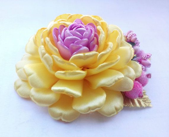 Yellow Flower Hair Accessory/ Yellow Hair от AirinFlowers на Etsy