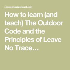 picture regarding Cub Scout Outdoor Code Printable identify outside code bsa -