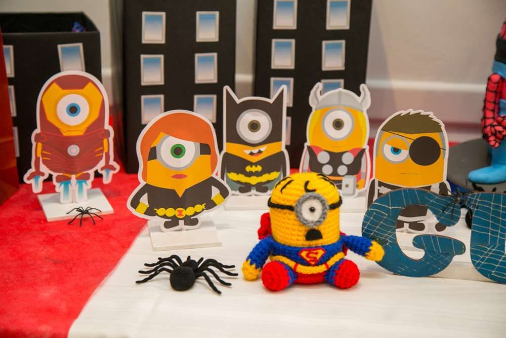 Minions Super Heroes Birthday Party Ideas Minion superhero