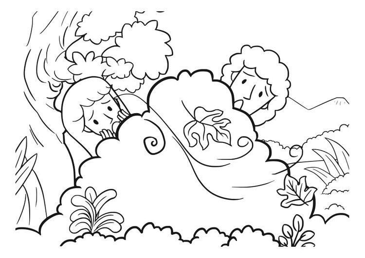 Dibujo Para Colorear Adan Y Eva Adan Y Eva Paginas Para Colorear Dibujos De La Creacion