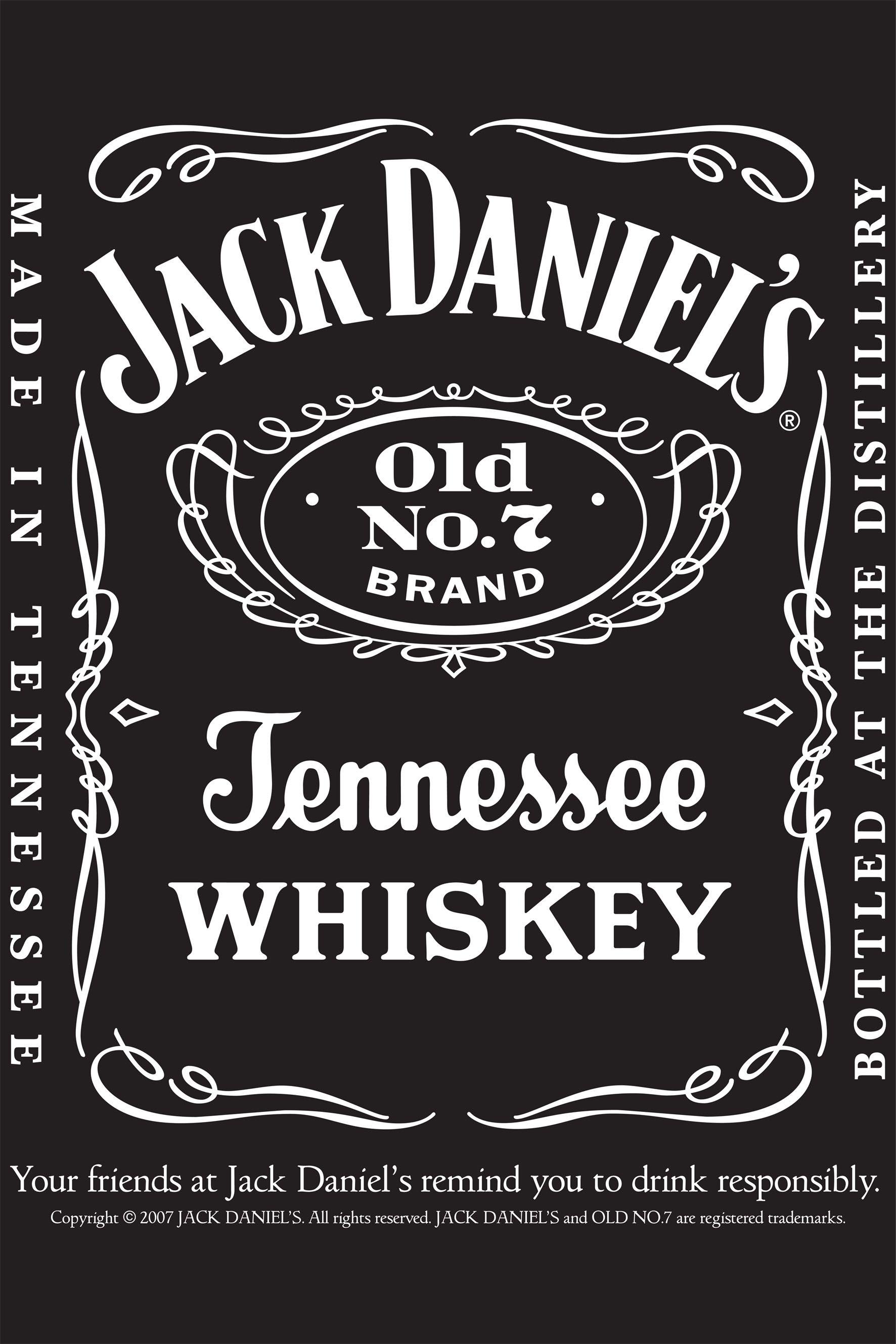jack daniels vintage, label, whiskey, antique, design
