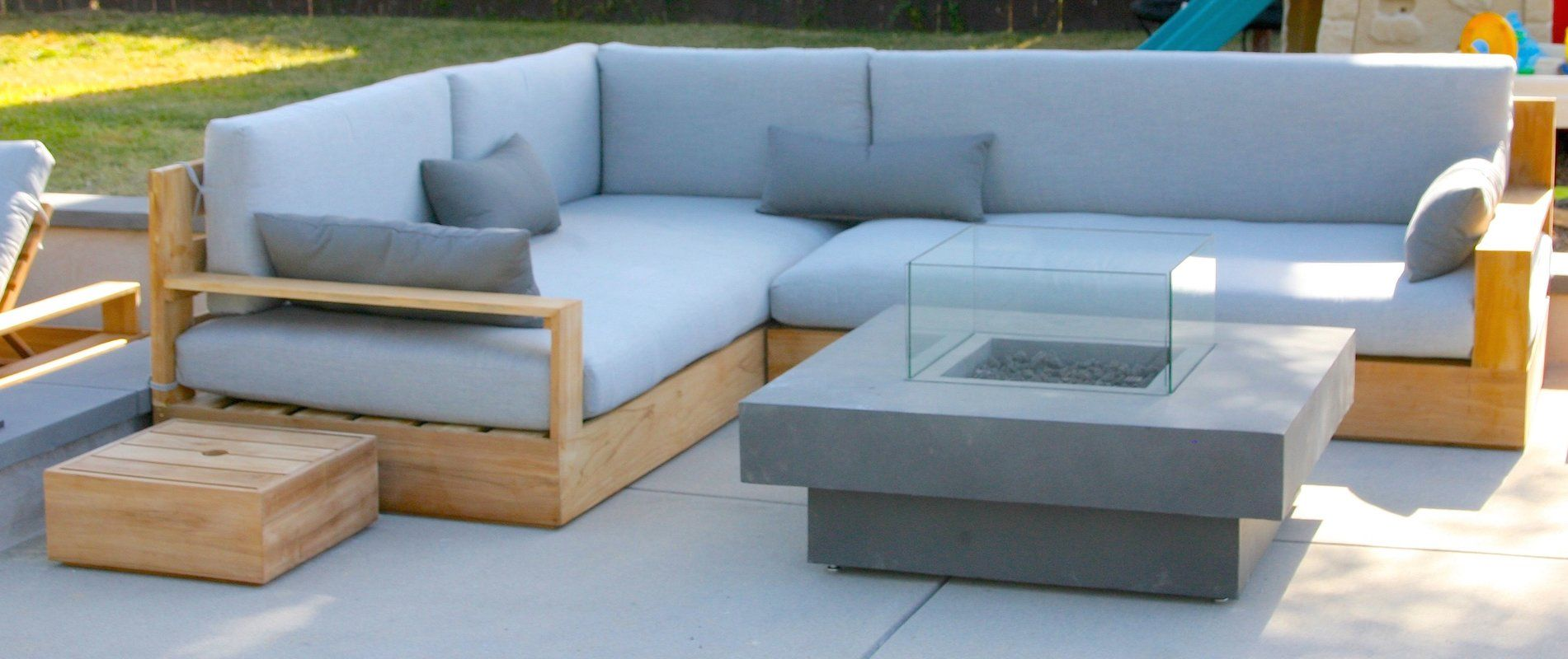 Bale 3 Piece Deep Seating Group With Sunbrella Cushion Outdoor