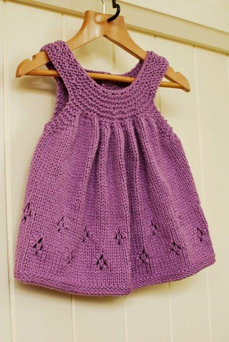 Girl\'s hand knit tunic top | ropa bebe | Pinterest | Vestidos de ...