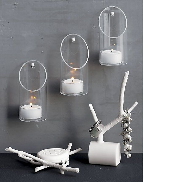 Wall Mounted Candle Holder Cb2 Maybe As An Alternative To The