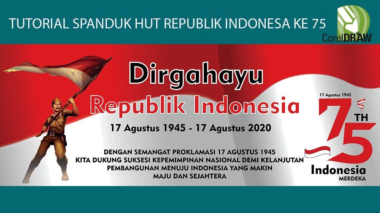 tutorial desain spanduk HUT REPUBLIK INDONESIA KE 75 ...