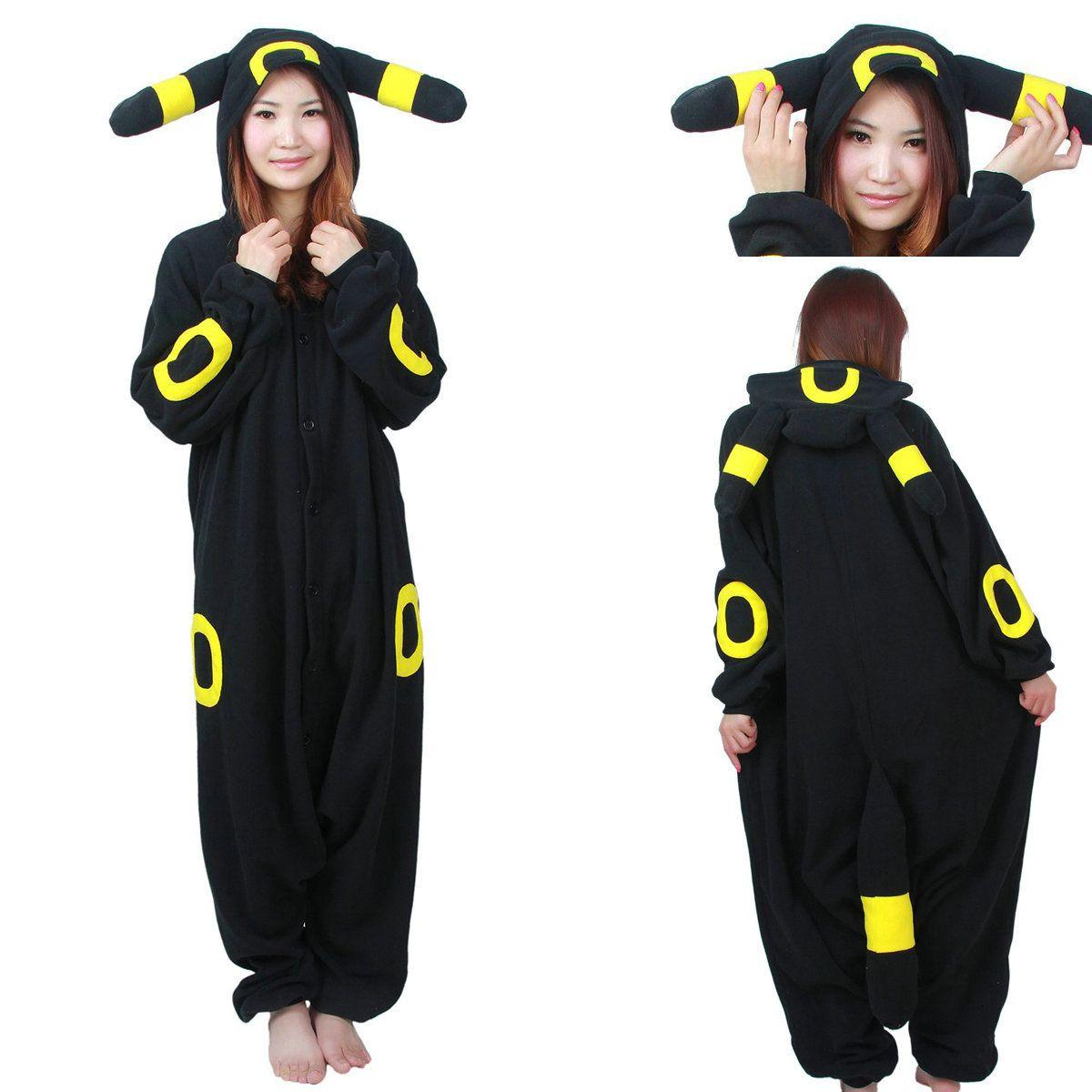 Pokemon Umbreon Eevee Yellow Black Kigurumi Onesie Hoodie Pajamas ...