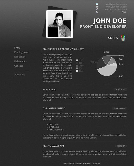 Professional Creative Resume Templates Design  HttpWww