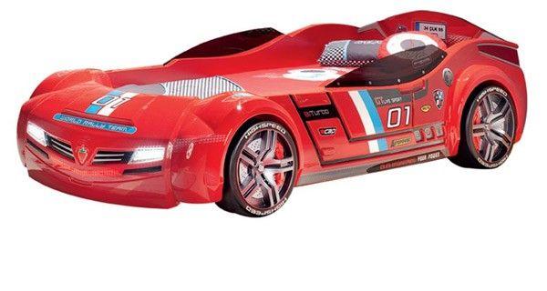 Cilek Biturbo Car Bed Red With Mattress 20 02 1334 00 Cilek