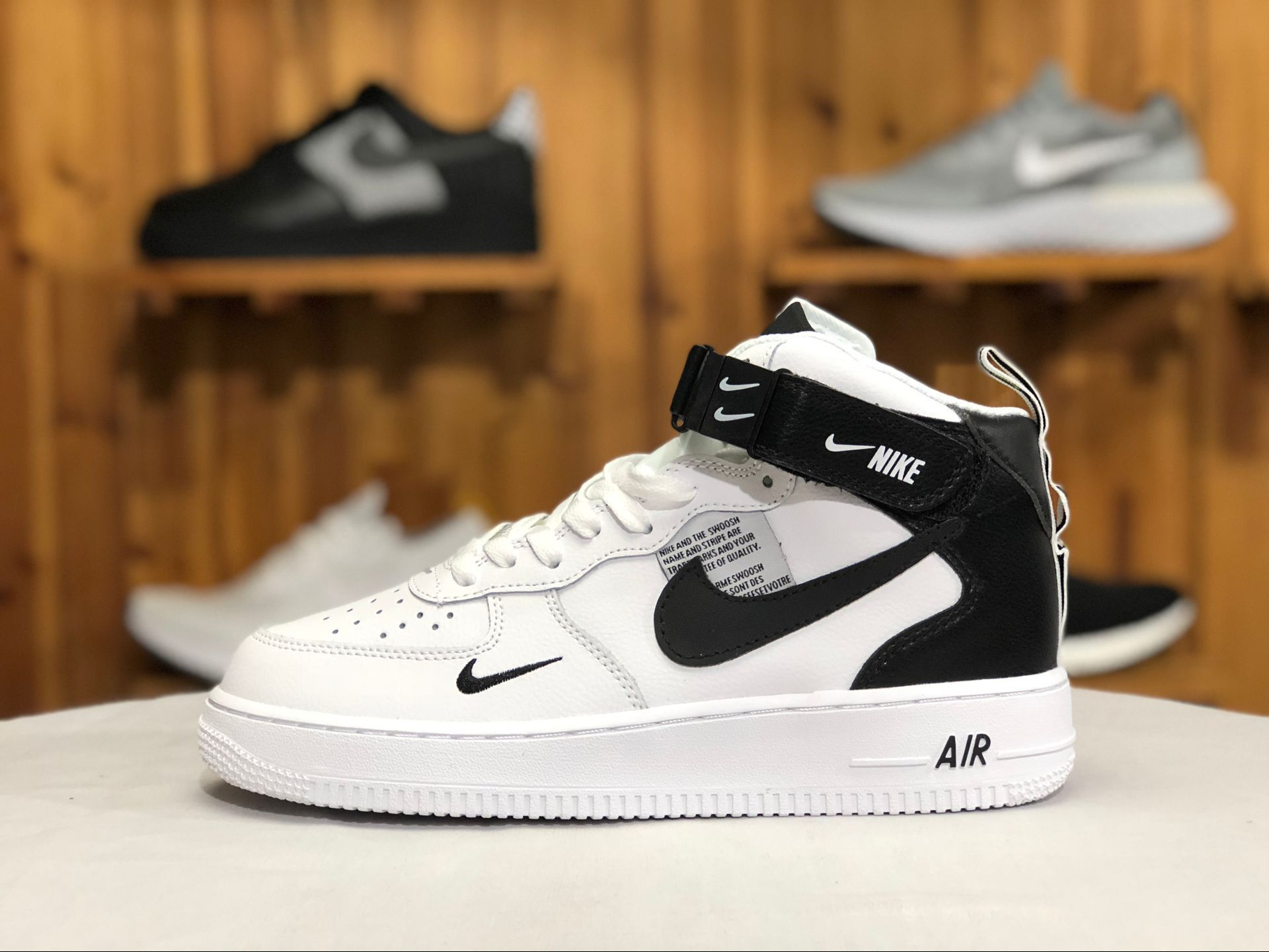 sports shoes a99db 3c3df Nike Air Force 1 High White Black AJ7747-100 To Buy