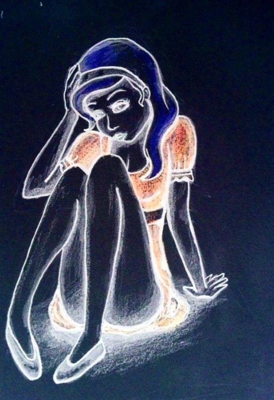 Alice in negative, by 7ofheartz