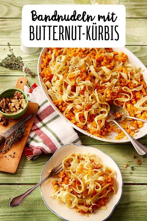 Bandnudeln mit Butternut-Kürbis #herbstgerichte