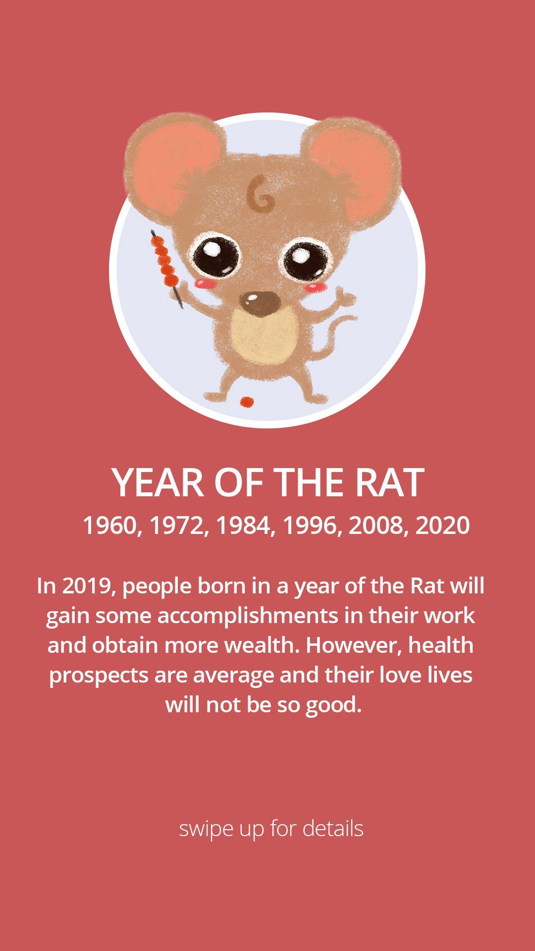 Chinese Zodiac Rat Rat Year Chinese Zodiac Year Of The Rat