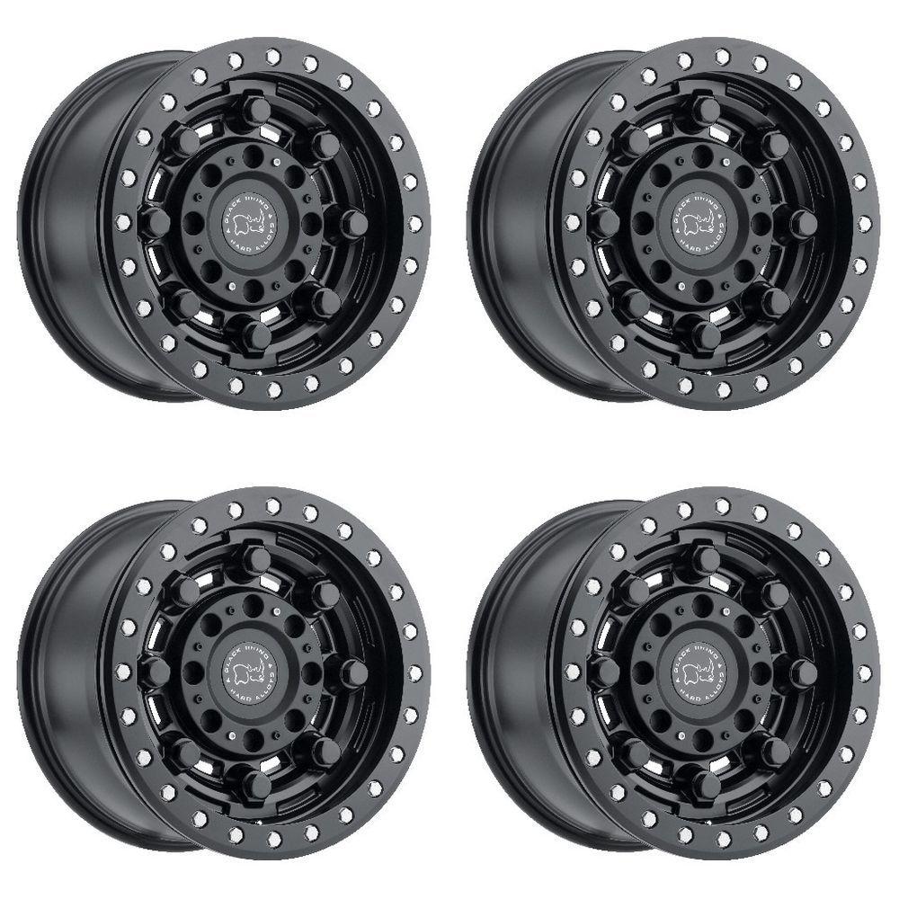 Set 4 17 Black Rhino Garrison Black Wheels 17x8 5 5x4 5 32mm Lifted Jeep 5 Lug Blackrhino Black Rhino Wheels Truck Wheels Black Wheels