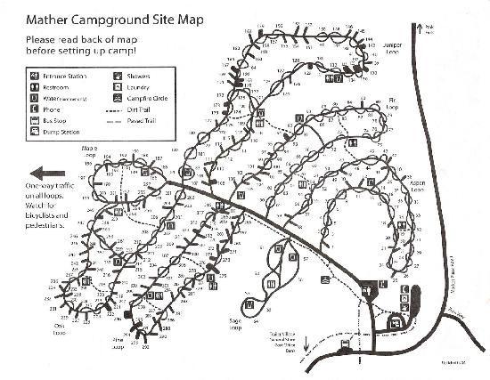 Mather Campground Grand Canyon NP Trip Nat Parks West Pinterest - Grand canyon campground map