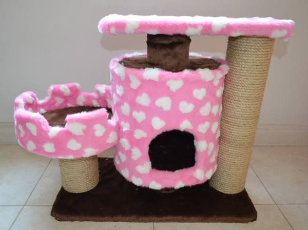 คอนโดแมว (ปราสาทน้องแมว) มีไว้เพื่อให้แมวนั่งเล่น นอนเล่น และลับเล็บ  สินค้าส่งออก ผ้านำเข้าจากเกาหลี ขนาดควาามสูง 75 cm. ขนาดอุโมงค์ 30 x 30 cm. ขนาดฐาน 30 x 60 cm.  ราคา 2,500 บาท (สำหรับผ้าลายนี้เท่านั้น)   https://www.facebook.com/media/set/?set=a.636760239704502.1073741825.161263727254158&type=3