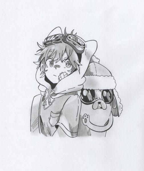 Finn y Jake (Versión Anime 4) - Animación | Dibujando.net | drawings ...