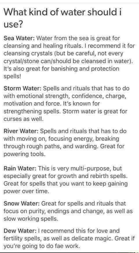 Holy waters #wiccanspells