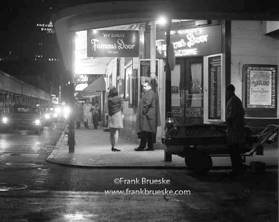 Black white fine art photography bourbon street the famous door 1968 the french quarter new orleans bourbon street free shipping