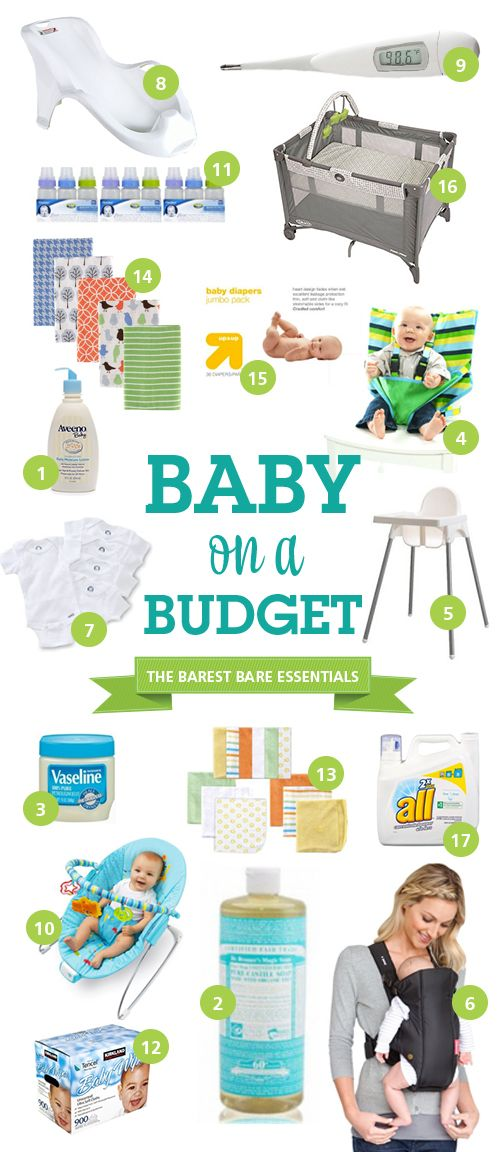 A List of Budget Bare Essentials Needed For Babies Bare - baby registry checklists