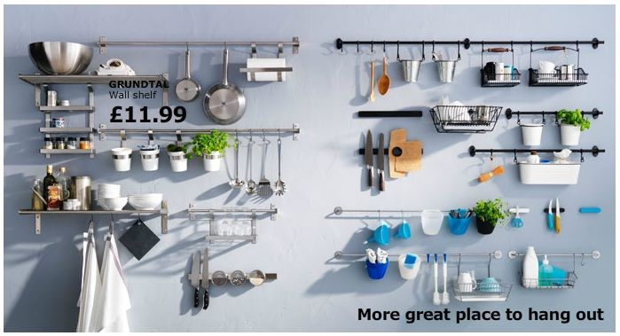 Ikea Grundtal Series Kitchen Wall Storage Kitchen Rails