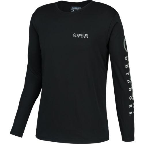4389d35f4e4 Magellan Outdoors Men's Casting Crew Moisture Management Long Sleeve Shirt  - view number 1