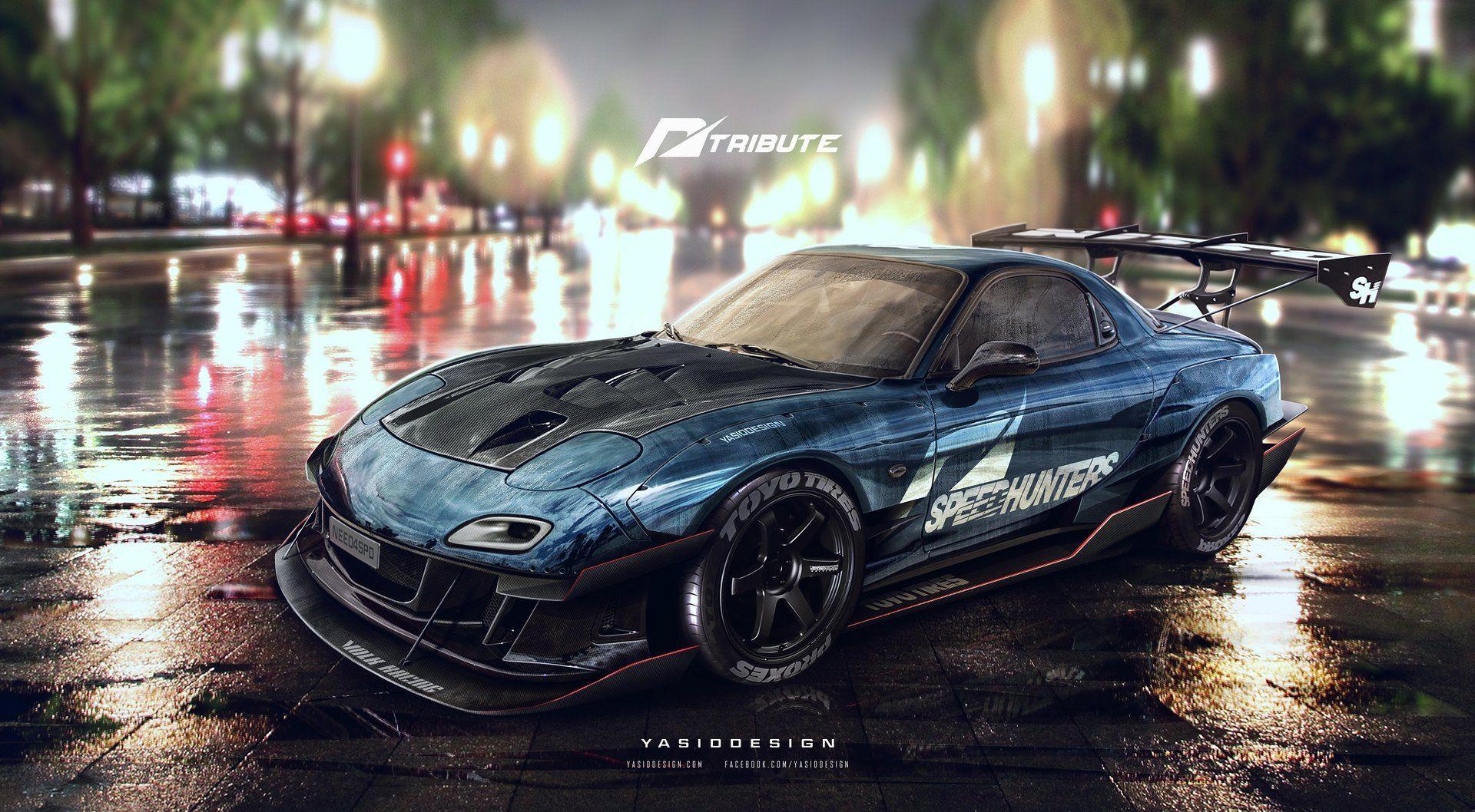 Artstation speedhunters mazda rx7 fd3s need for speed tribute yasid oozeear