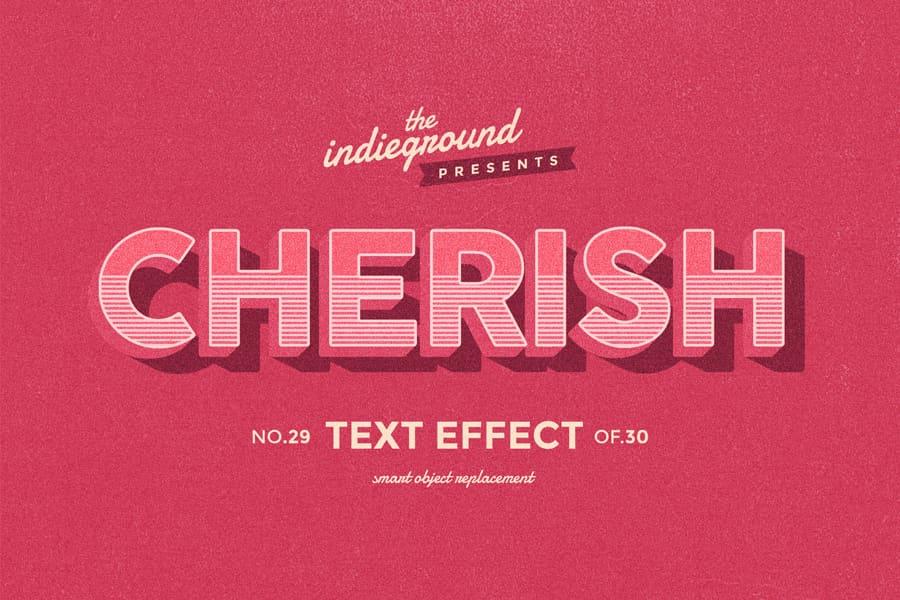 Retro Vintage Text Effect N 29 Indieground Design Retro Text Text Effects Vintage Text