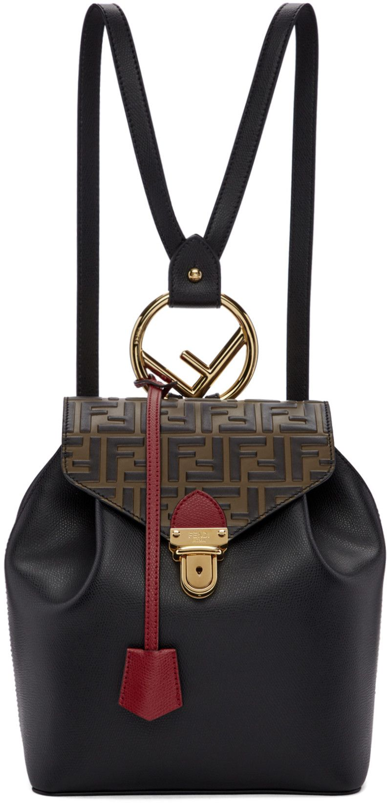 1ab3776ec904 Fendi - Black  Forever Fendi  Flap Backpack