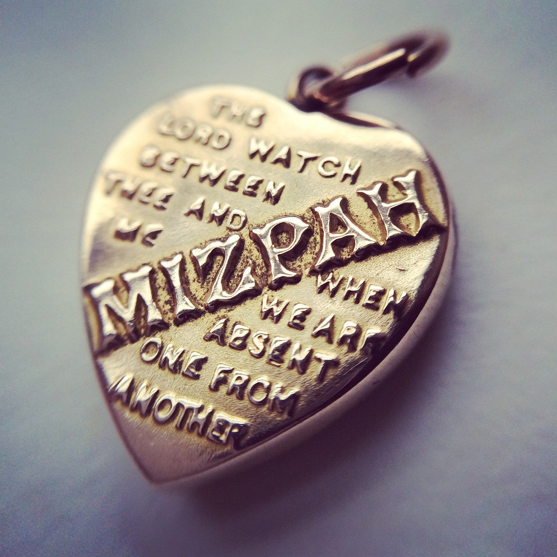 Victorian gold mizpah pendant heart locket charm 9ct yellow this rare miniature victorian mizpah pendant has it all buttery 9ct gold aloadofball Choice Image