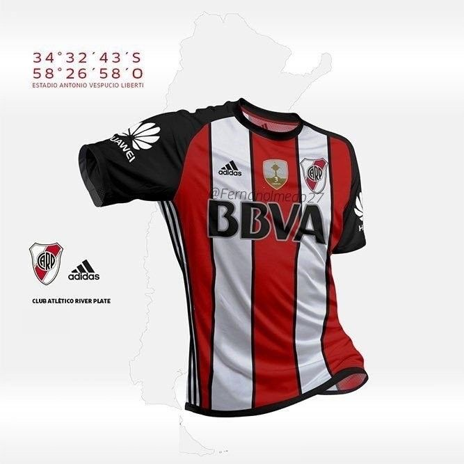 River Plata segunda camiseta suplente 2018!!  b47e35c6dca3a