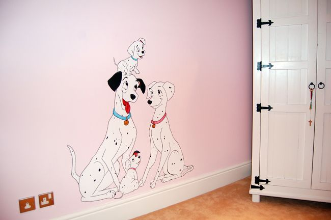 101 Dalmatians Nursery Found On Jamiekeithartist Com Disney Nursery Girl Disney Themed Nursery Nursery Room Boy