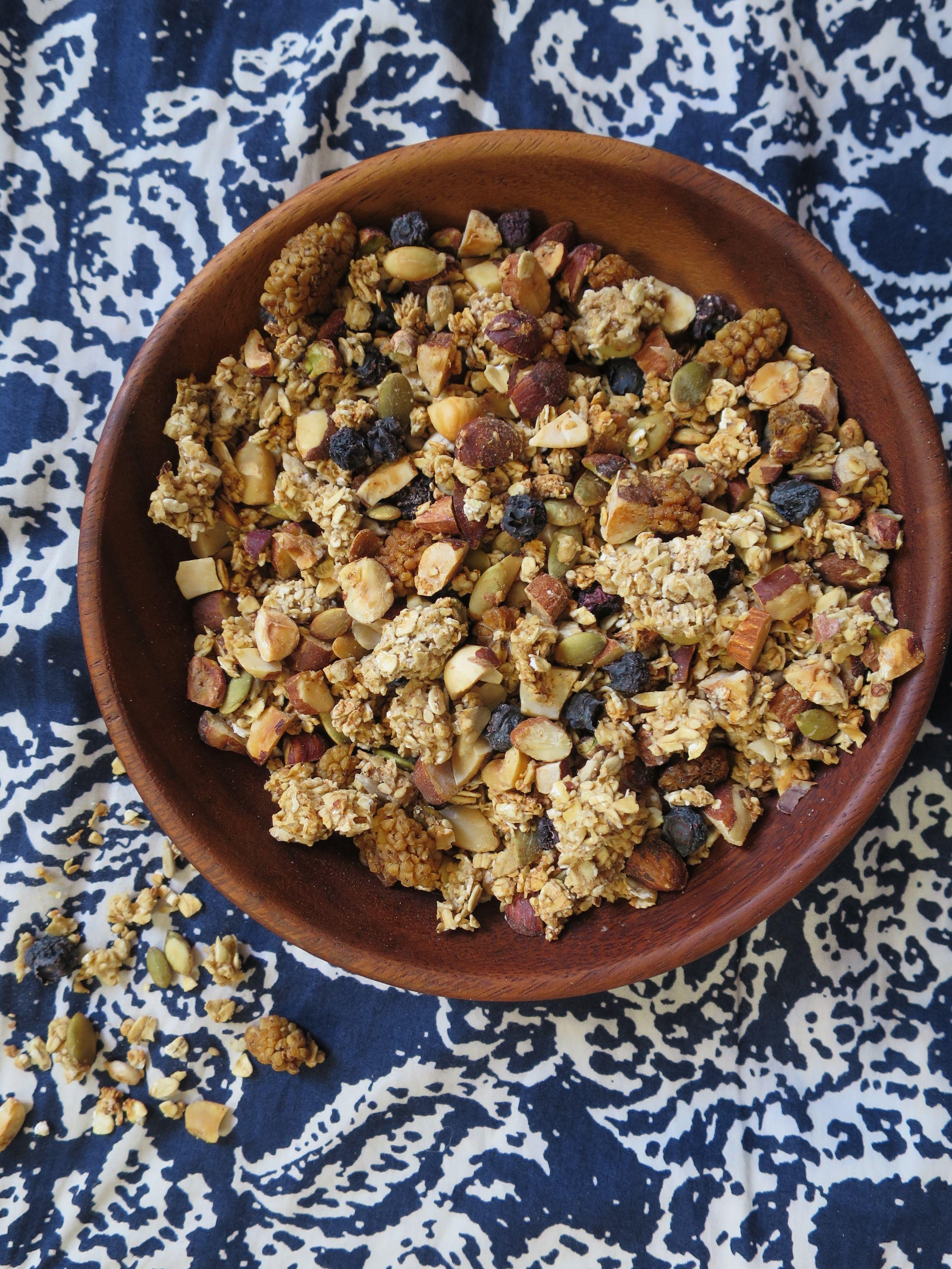 Granola maison aux noix & aux graines