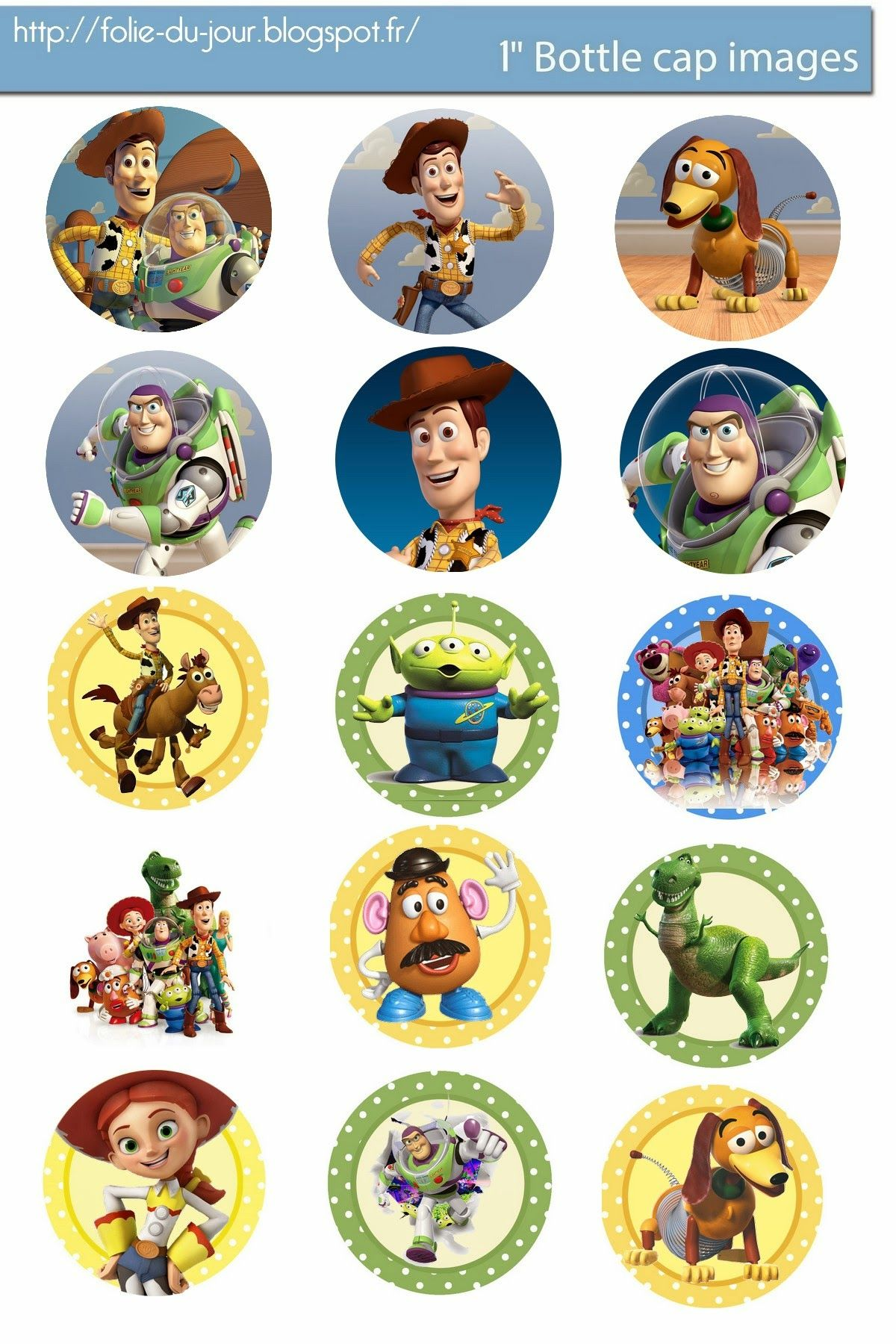 Free Bottle Cap Images Free Toy Story Digital Bottle Cap