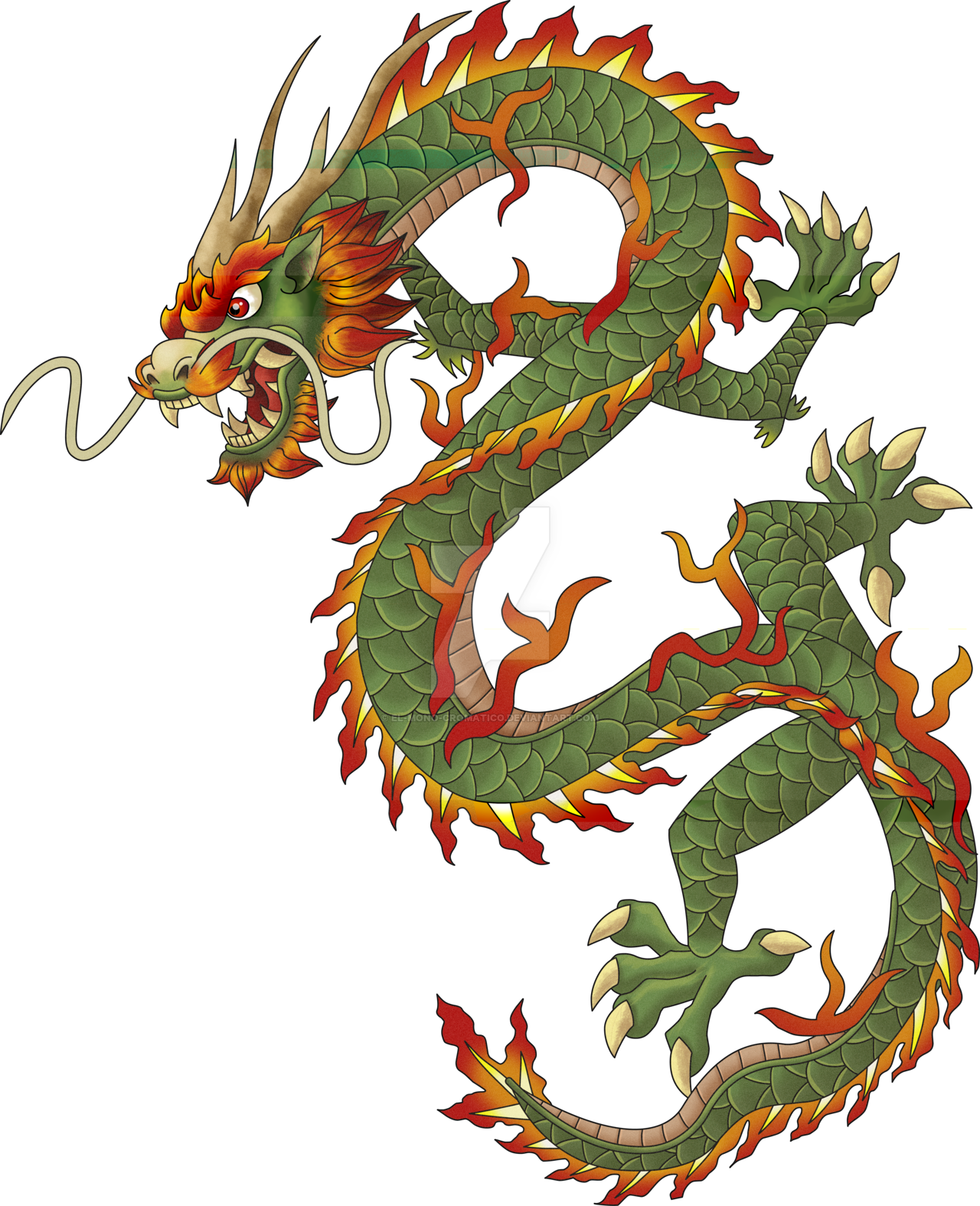 Chinese dragon pesquisa google dragons pinterest for Japanese dragon painting