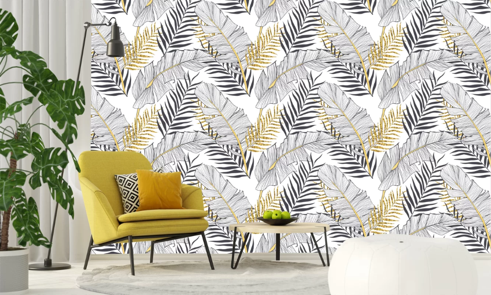 Mercer41 Seamless Banana Palm Leaves 10 L X 24 W Peel And Stick Wallpaper Roll In 2021 Palm Leaf Wallpaper Peel And Stick Wallpaper Wallpaper Roll