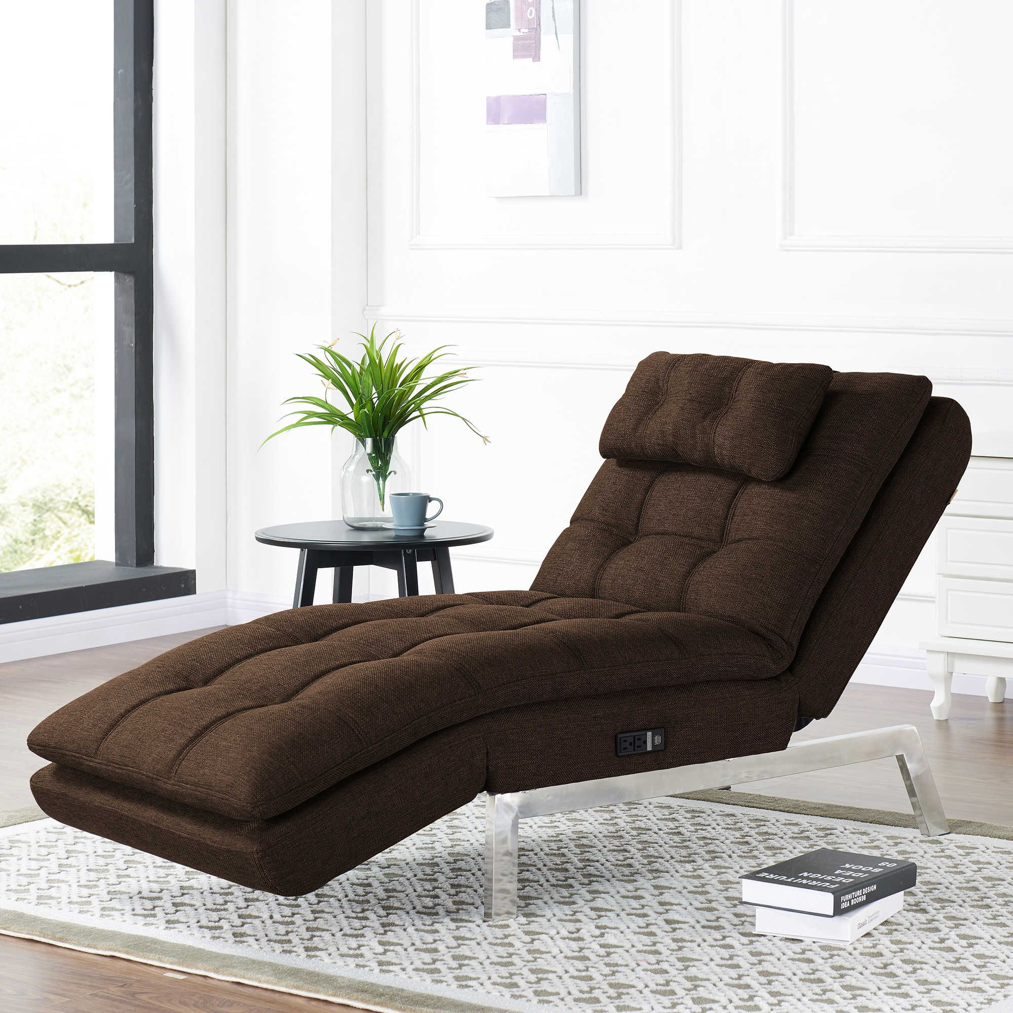 Lifestyle Solutions Vaugn Convertible Chaise in Dark