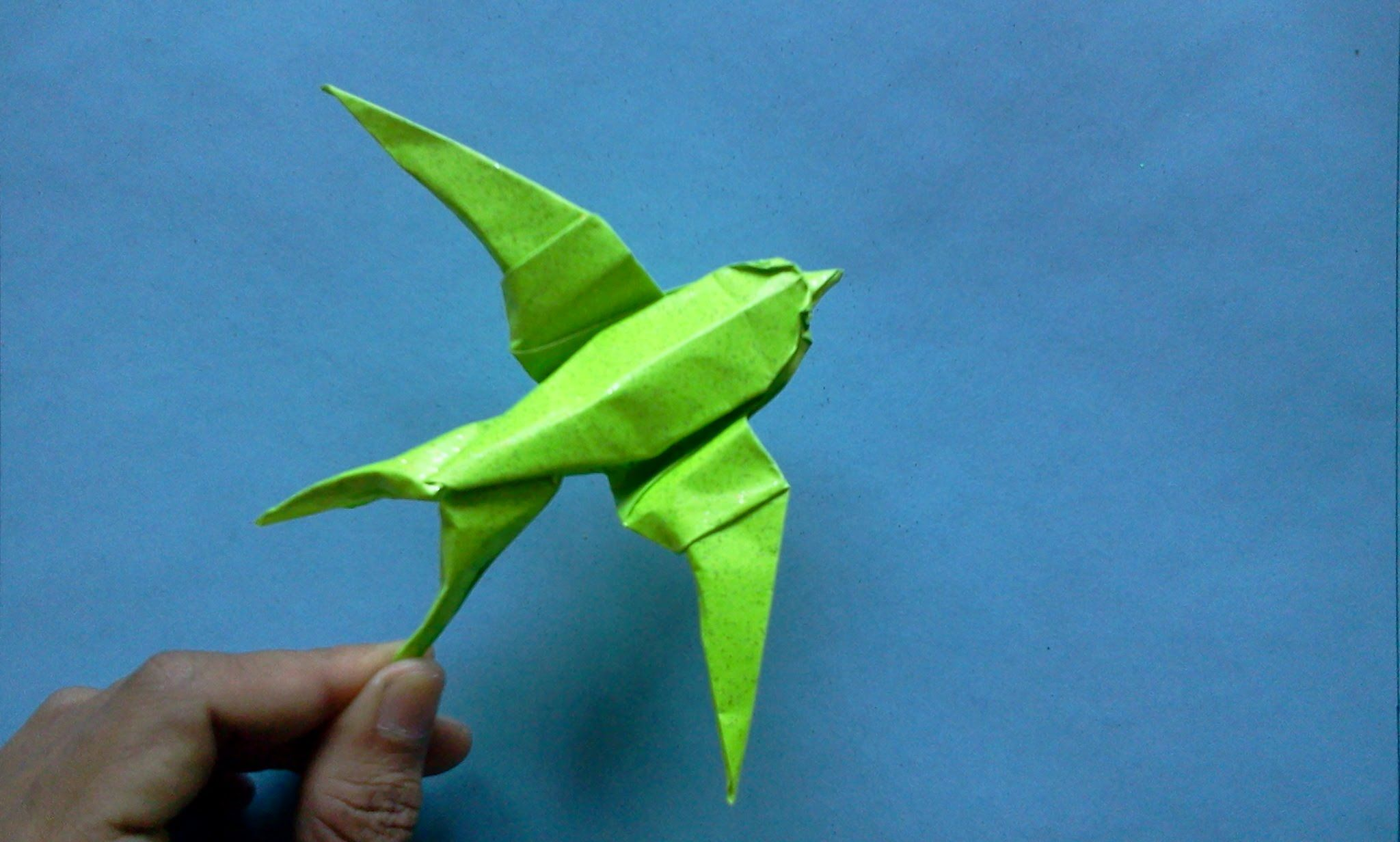 How to make Origami Bird swallow (sipho mabona) | Oigami ... - photo#13