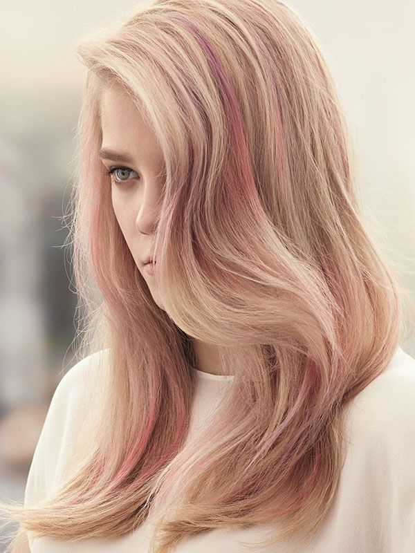 Blonde waves with pink. @thecoveteur