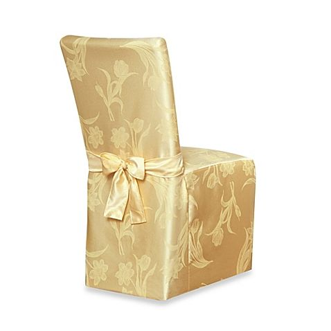 Spring Blossoms Damask Dining Room Chair Cover Dining Room Chair Covers Christmas Dining Table Decor Christmas Dining Table