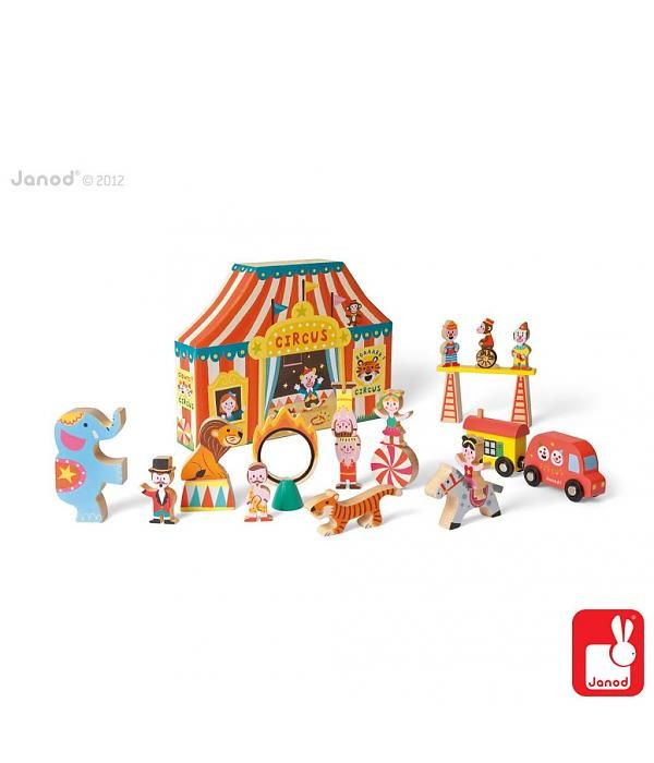 Janod Janod - Storybox Circus 19-delig speelset