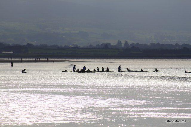 Surf classes on the beach at Strandhill, Co Sligo