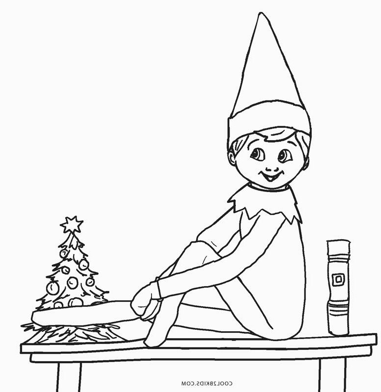 Elf On The Shelf Coloring Template Www.robertdee.org