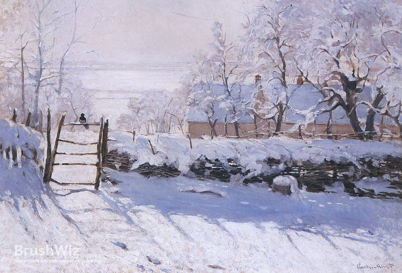 The Magpie by Claude Monet - Oil Painting Reproduction - BrushWiz.com