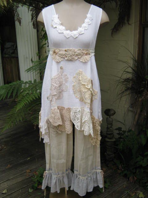 Vintage Kitty Lily Hannah beautiful cotton by sistersroseandruby, $199.00
