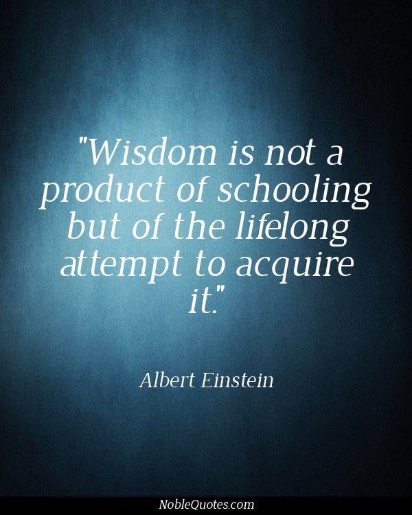 Wisdom Is Not A Product Of Schooling But Of The Lifelong