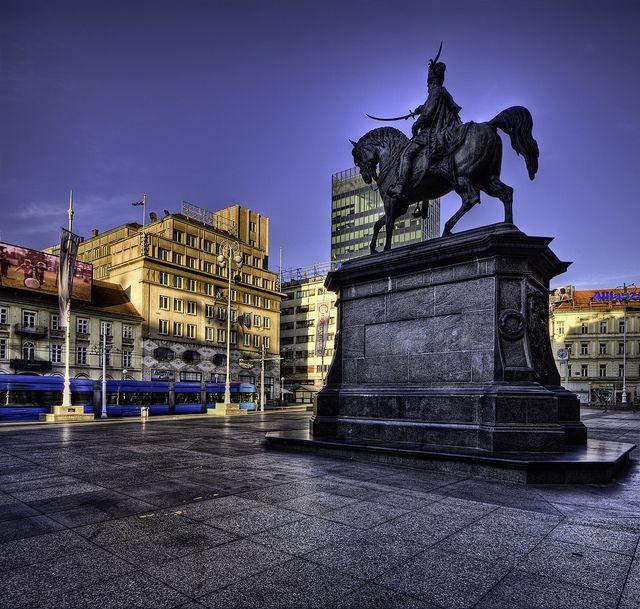 Trg Bana Jelacica Zagreb Croatia Croatia Zagreb