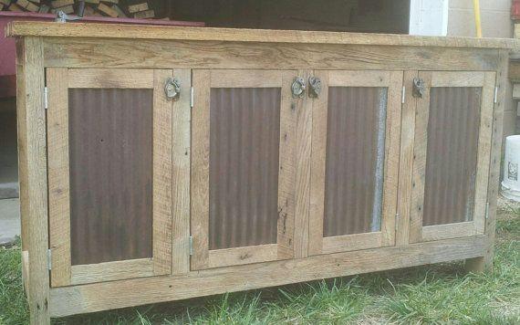 Credenza De Madera Rustica : Armario credenza de madera aparador por